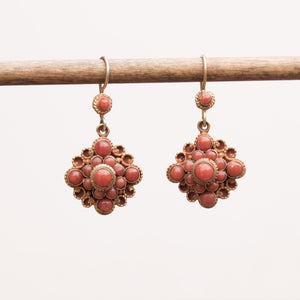 Coral Mandala Earrings