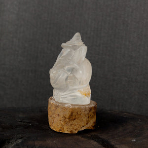Clear quartz Ganesha