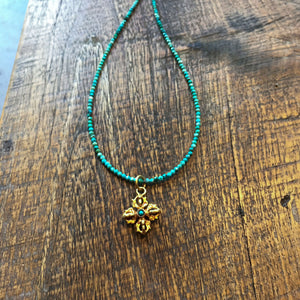 Double Dorje turquoise necklace