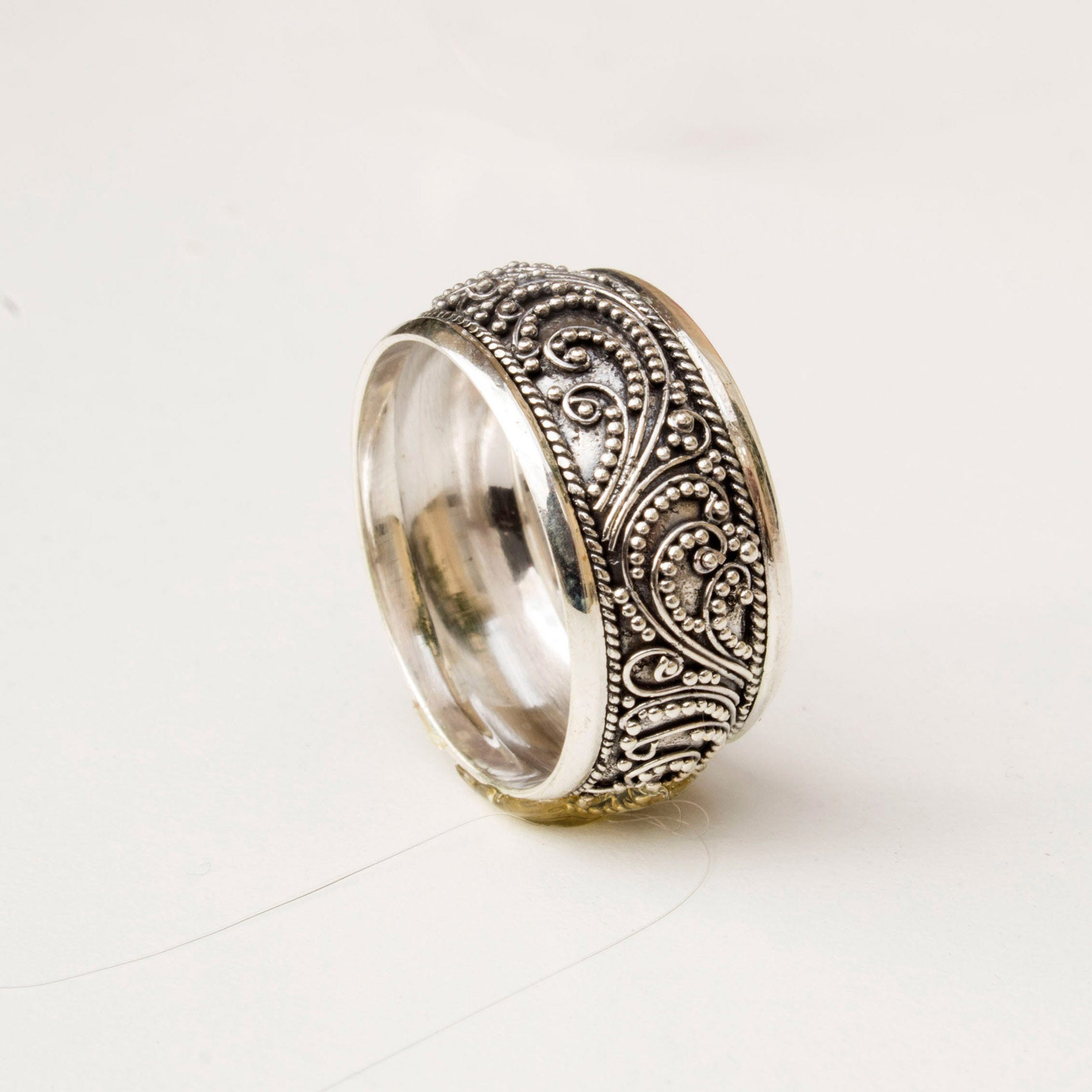 Filigree Sterling Silver Ring
