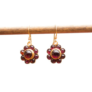 Garnet bud Earrings
