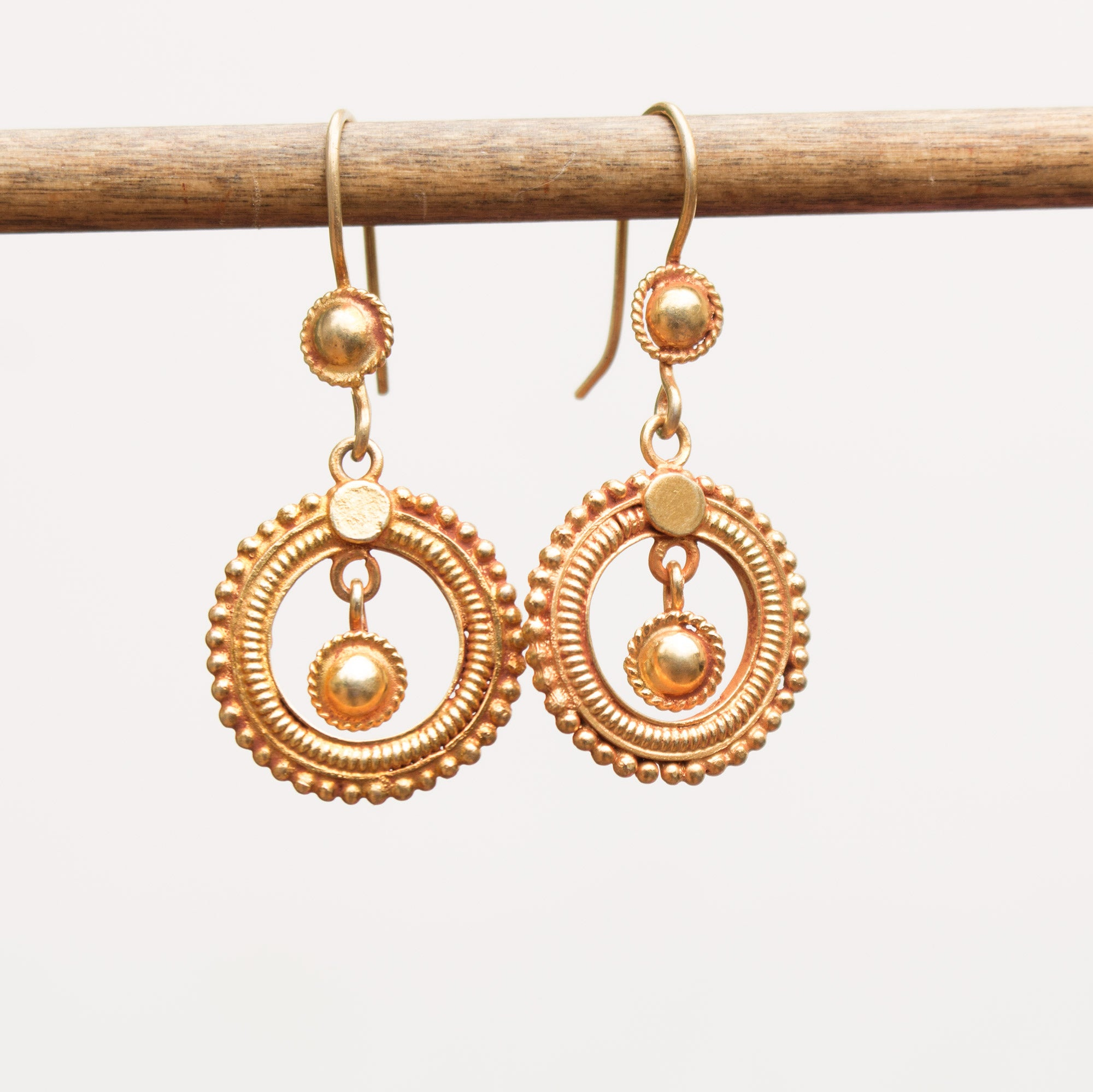 Round vermeil earrings