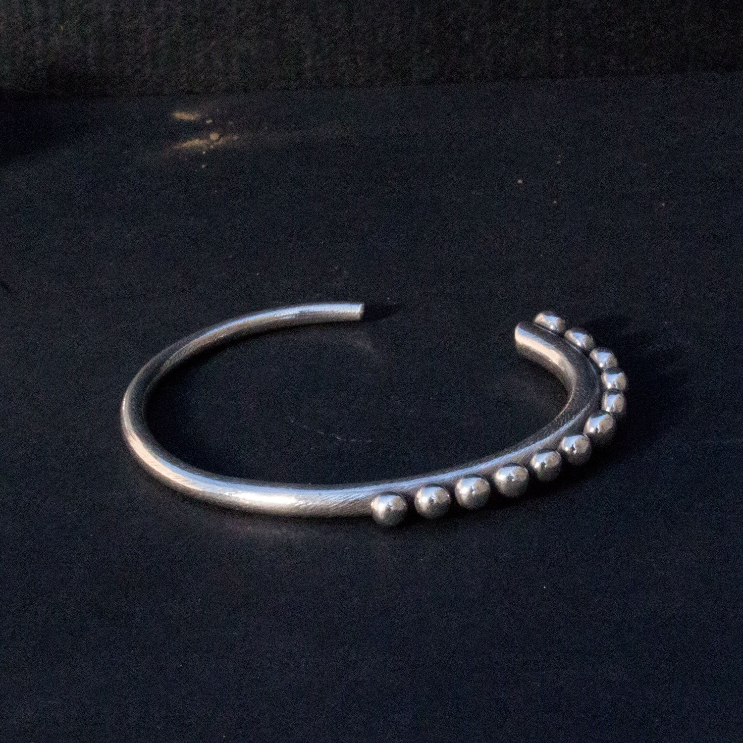 Granulated sterling bracelet