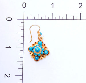 Turquoise Mandala Earrings - Trendivine