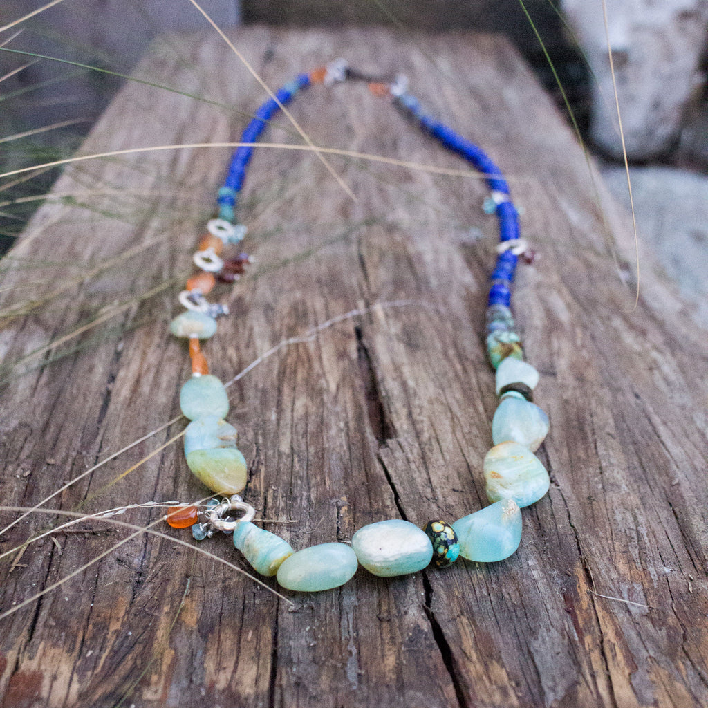 Peruvian Opals Long Necklace
