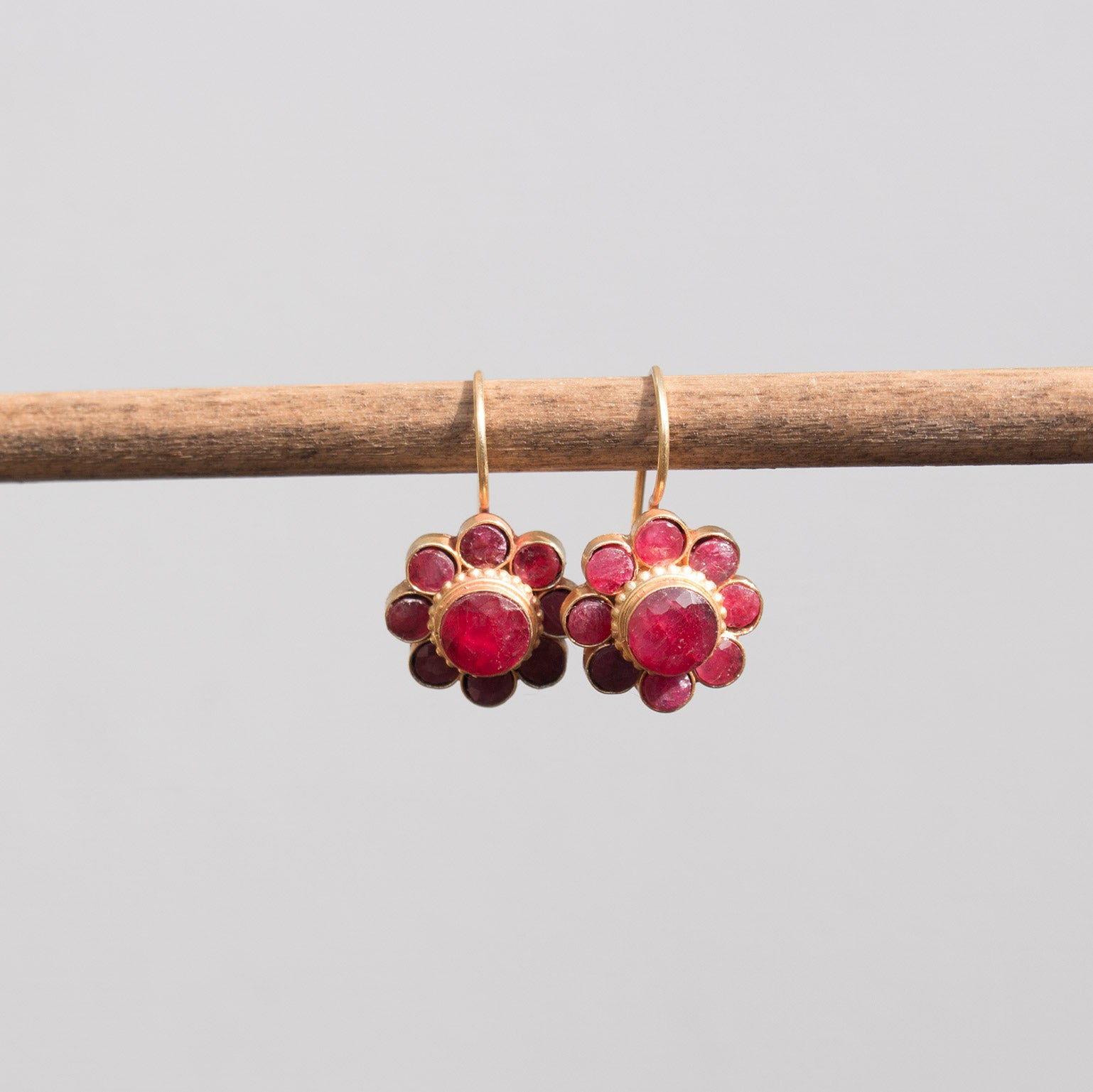 Vermeil Ruby Earrings