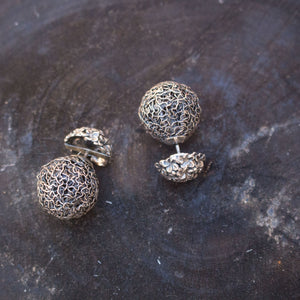 Sterling silver ball stud earrings