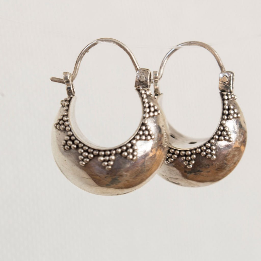 Geeta sterling silver hoop earrings