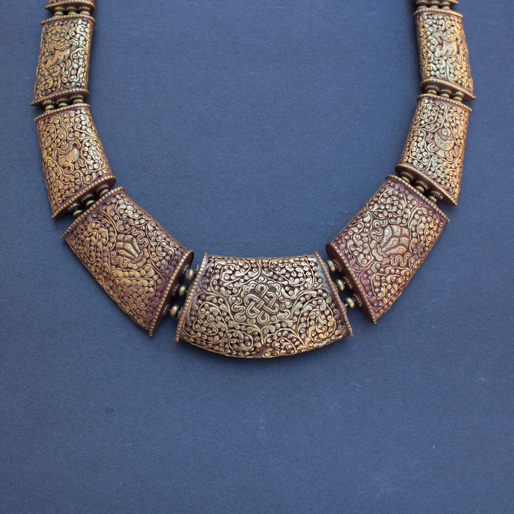 Tibetan carving necklace