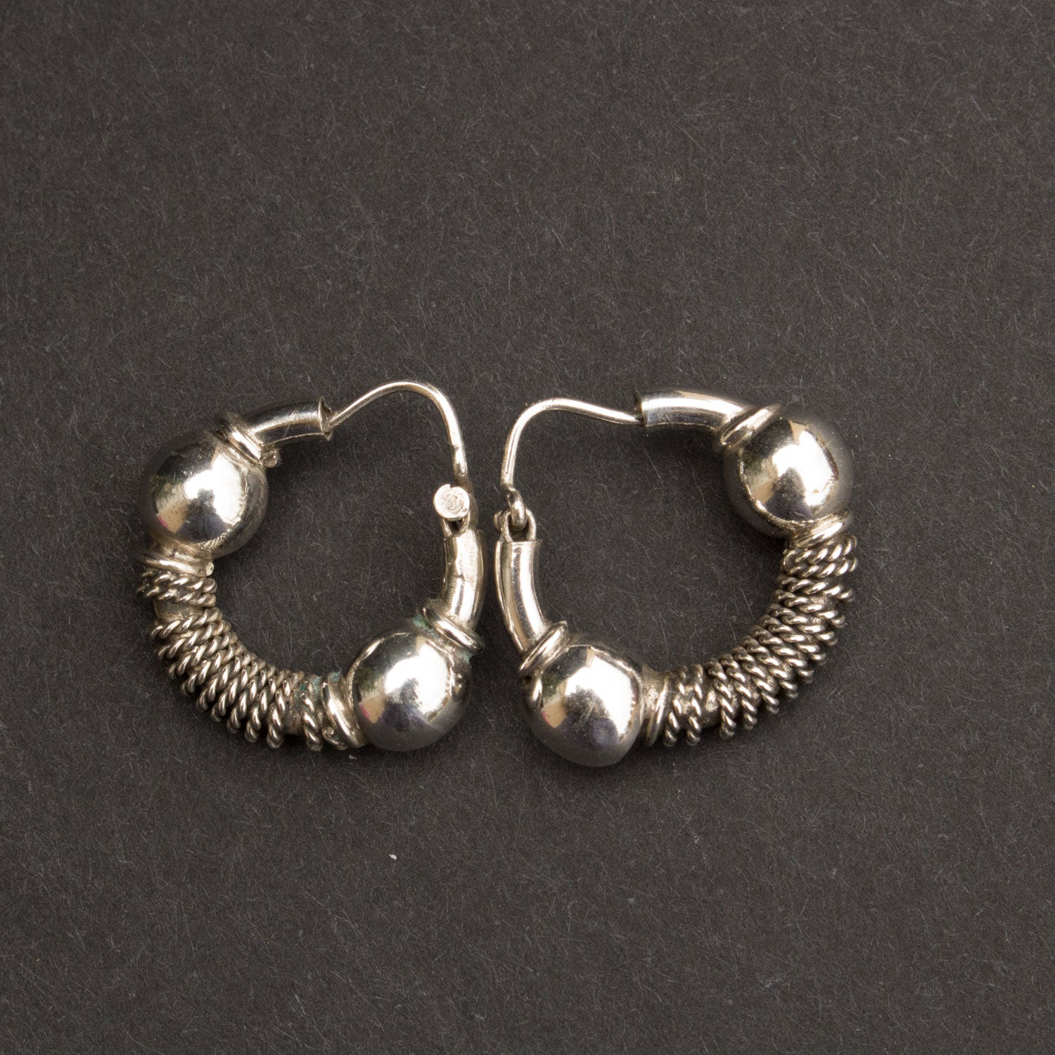 Tiny wire wrap hoops