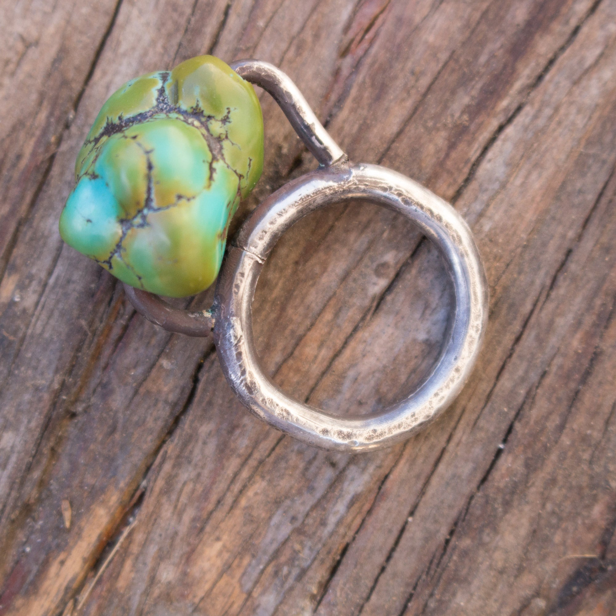 Turquoise Rock Silver ring