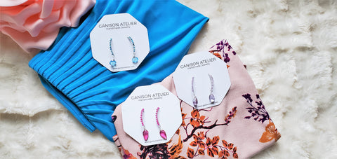 Signature Earrings in spring colors
