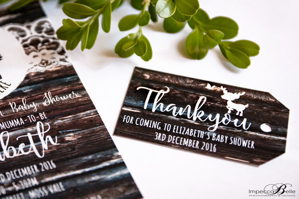 Lilly | A little deer is almost here Baby Shower Invitation - ImpeccaBelle | Southern Highlands | Australia