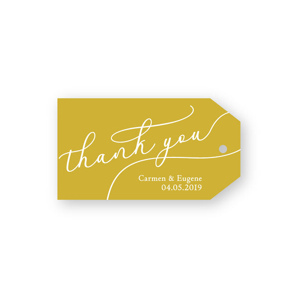 Carmen | Modern White Ink thank you gift tags - ImpeccaBelle | Southern Highlands | Australia