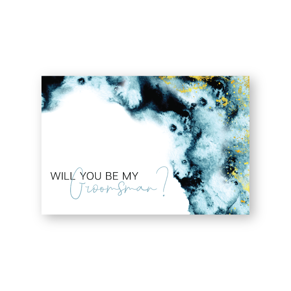 Julia | Will you be my .... cards | Watercolour and gold | Bridal Party Proposal Cards