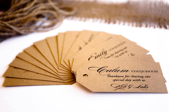 Kelli | Rustic Placecards / Favour Tags - ImpeccaBelle | Southern Highlands | Australia