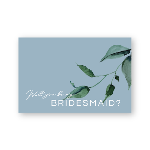 Kristen | Rustic Minimalist Will you be my .... wedding cards | Watercolour Floral | Bridal Party Proposal Cards