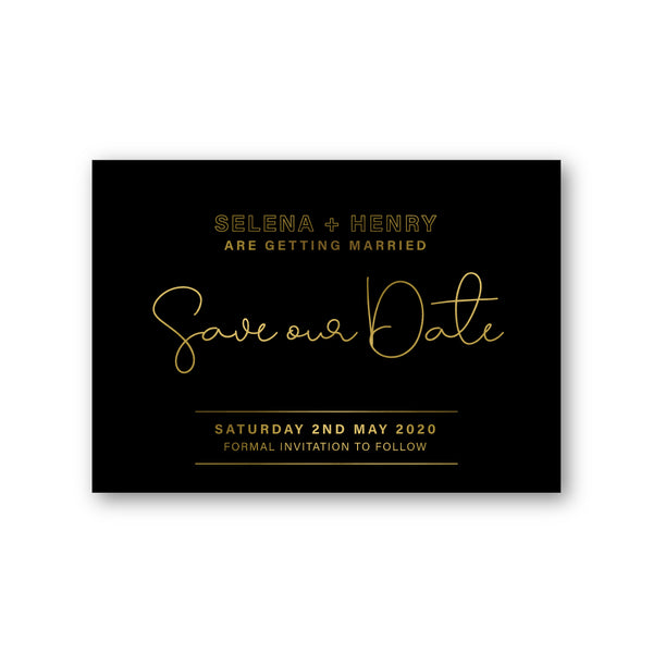 Selena | Save the Date Hot Foil Printing - ImpeccaBelle | Southern Highlands | Australia