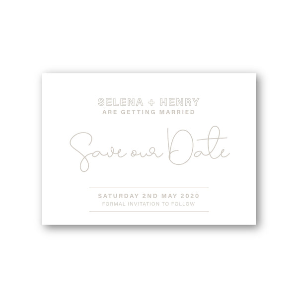 Selena | Save the Date Digital Ink Printing - ImpeccaBelle | Southern Highlands | Australia