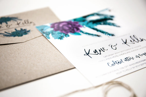 Kelly | Succulent Engagement Invitation - ImpeccaBelle | Southern Highlands | Australia