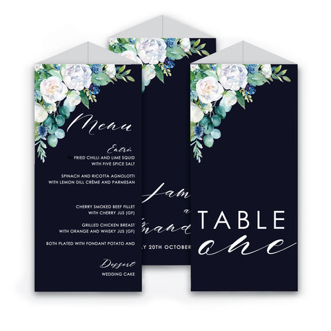 Amanda | Trifold Table Number and Menu - ImpeccaBelle | Southern Highlands | Australia