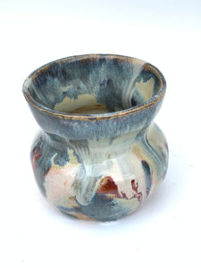 Mini Handthrown Ceramic Vase.  Beautiful glazes by Artist Julie Anne
