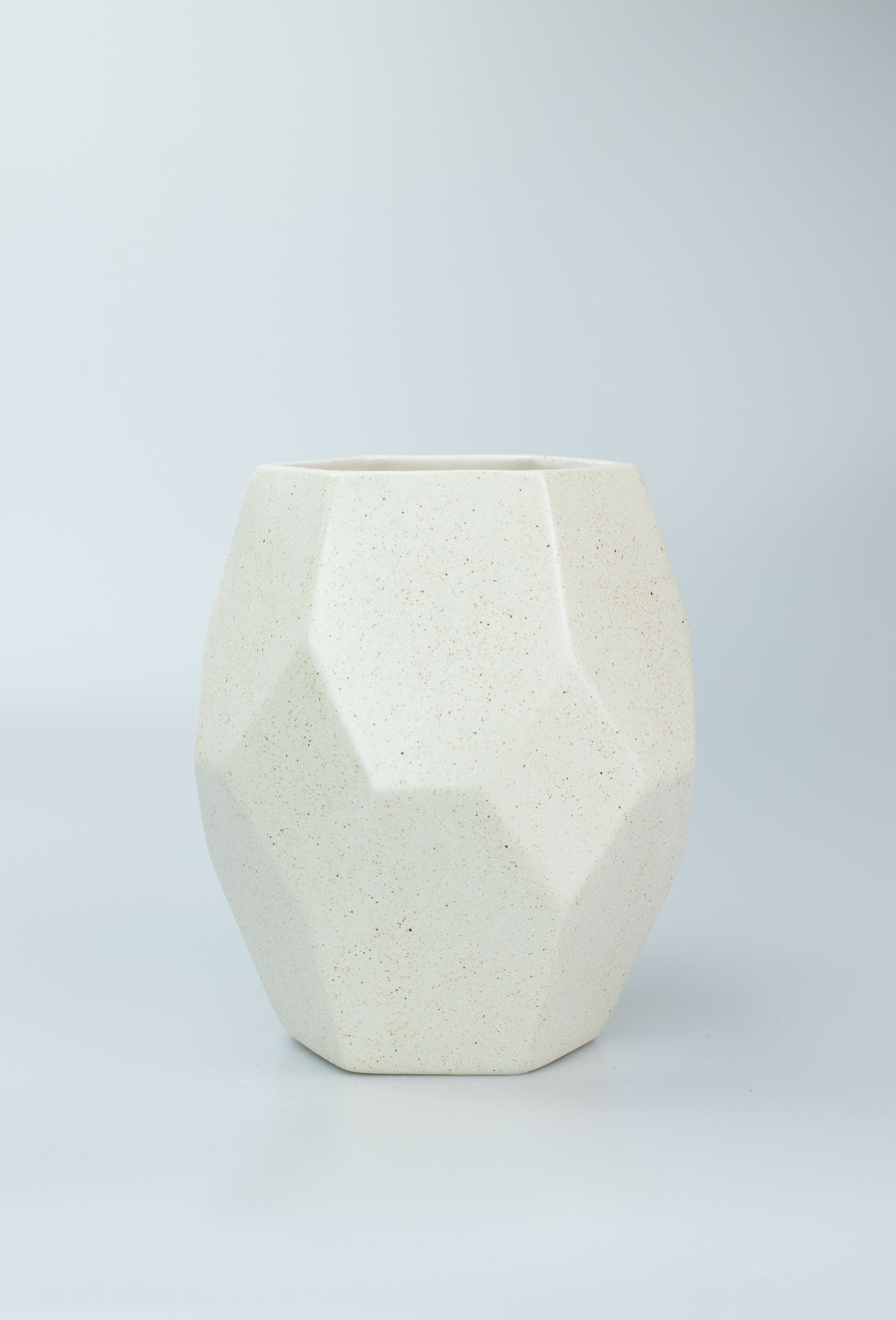Hexagonal Ceramic Vase