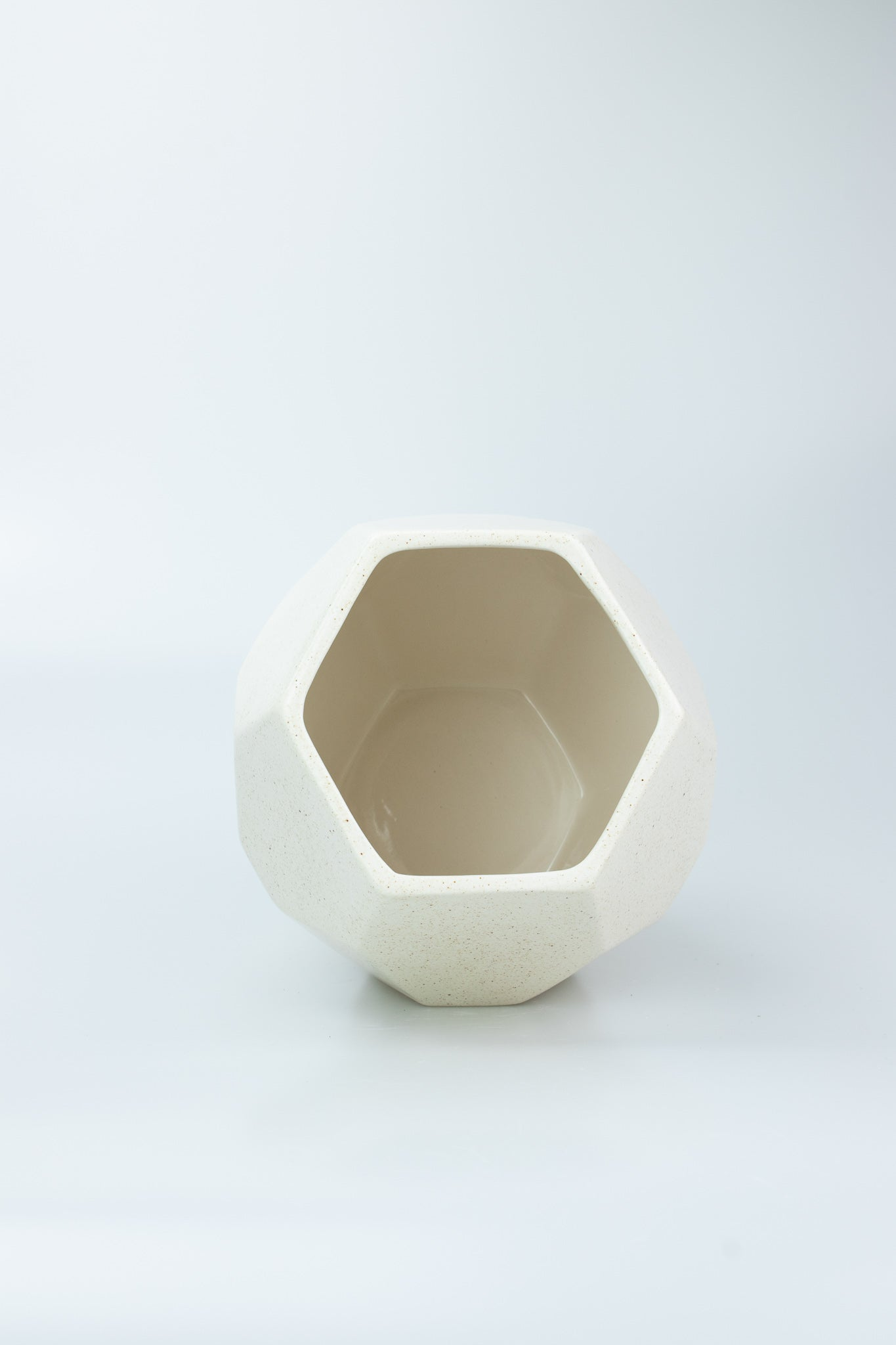 Ceramic Vase Hexagon Shaped