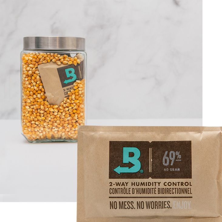 Boveda for Popcorn Storage