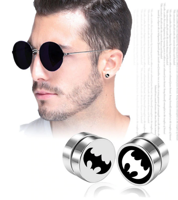 1PC Punk Mens Strong Magnet Magnetic Ear Stud Non Piercing Earrings