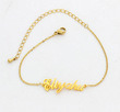 Charms Name Handwriting Style Bracelet (Custom Name)