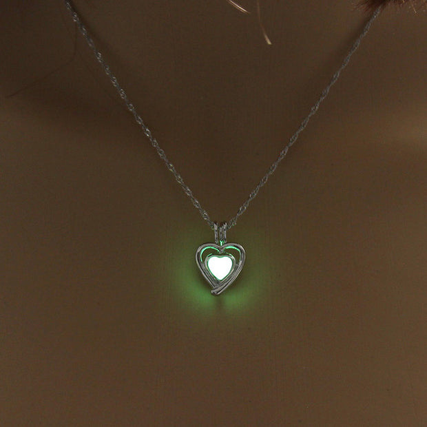 Charm Glowing Love Luminous Necklace