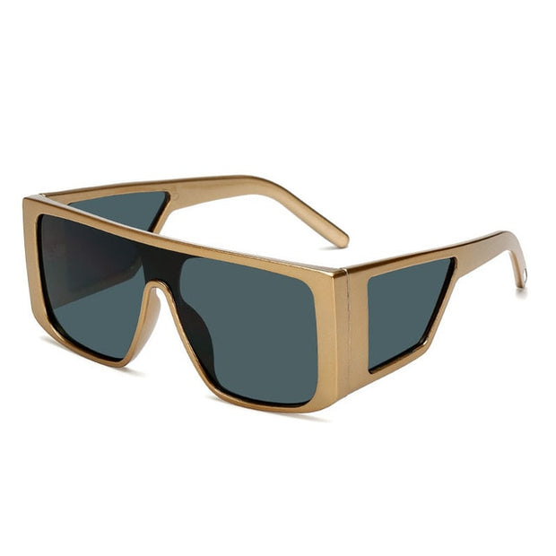 Design Fashion Unisex Oversized Square UV400 Shades Sunglasses