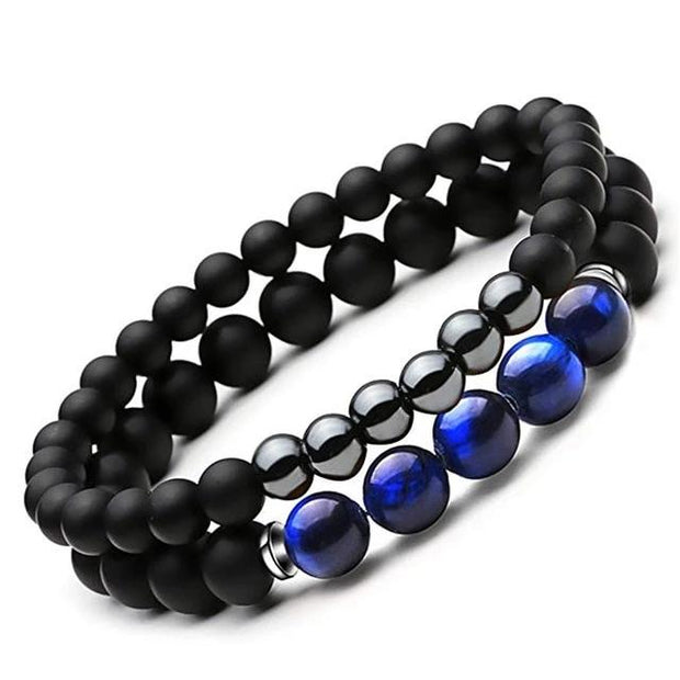 7 Chakra Bracelet Black Matte Lava Healing Balance Beads Reiki Buddha Prayer Natural Stone Yoga Bracelet For Men/Women