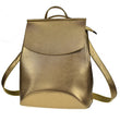 Gorgeous Plain PU Leather Backpack