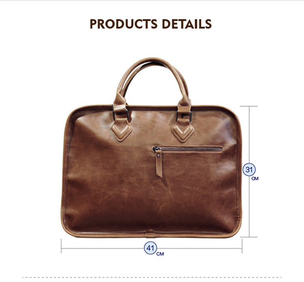 Luxury Leather Business/casual Bag/ Briefcase