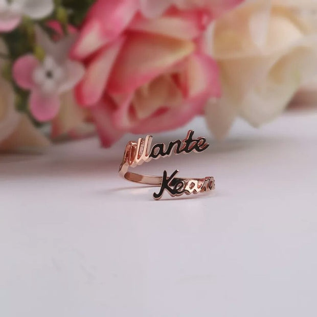 Personalized Customized Name Ring With Heart For Couple ,Stainless Steel Ring