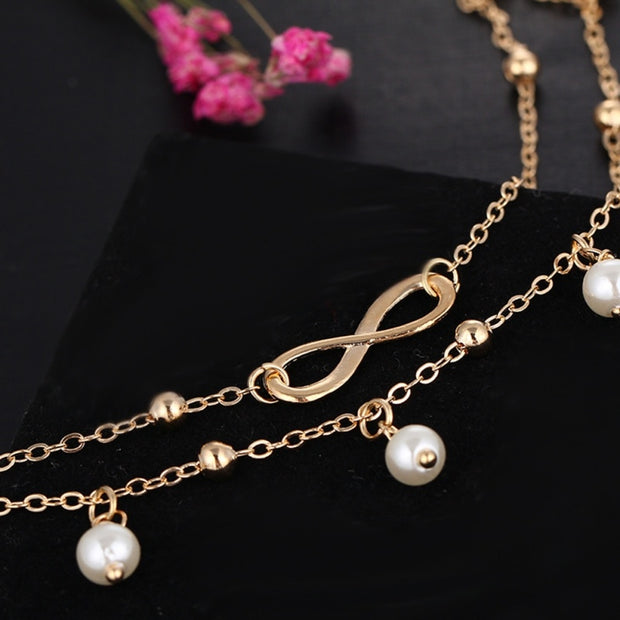 Pearl Bohemian Anklet  Bracelet For Women