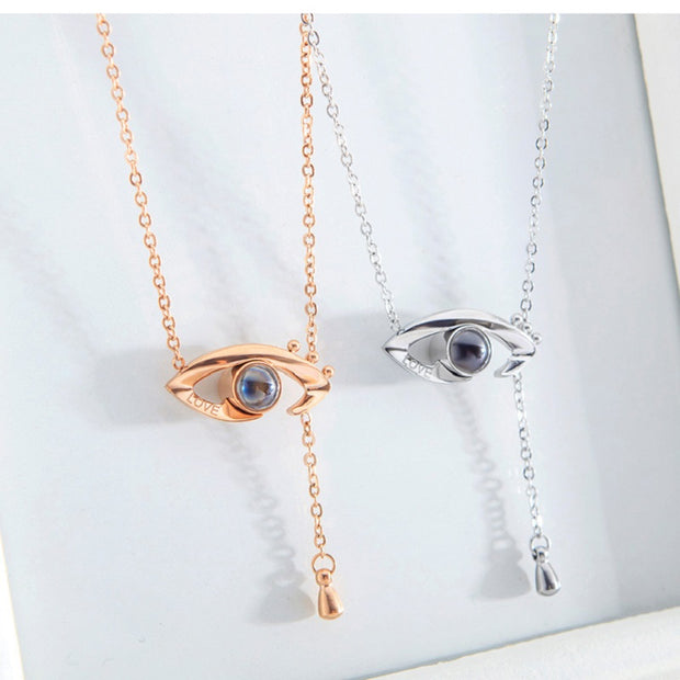 Eye Necklace Projection I Love You in 100 languages