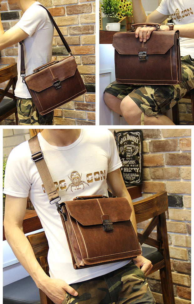 Leather Briefcase/ Portfolio Handbag