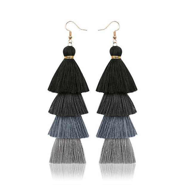 Handmade Colorful Crazy Feng Fashion Women Tassel Earrings