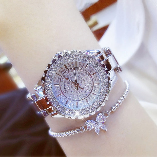 Gold Luxury Women Watches ( Diamond Quartz )