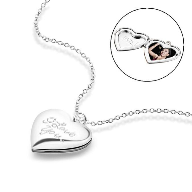 Heart-shaped Custom Photo Wedding imitation choker Necklace