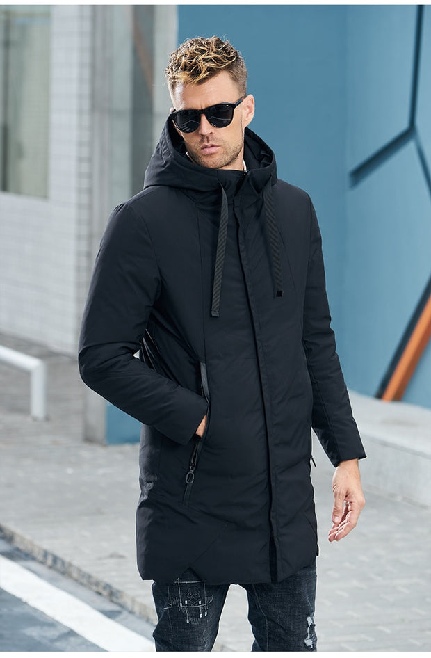 Thick Jacket Men Long Hat coat