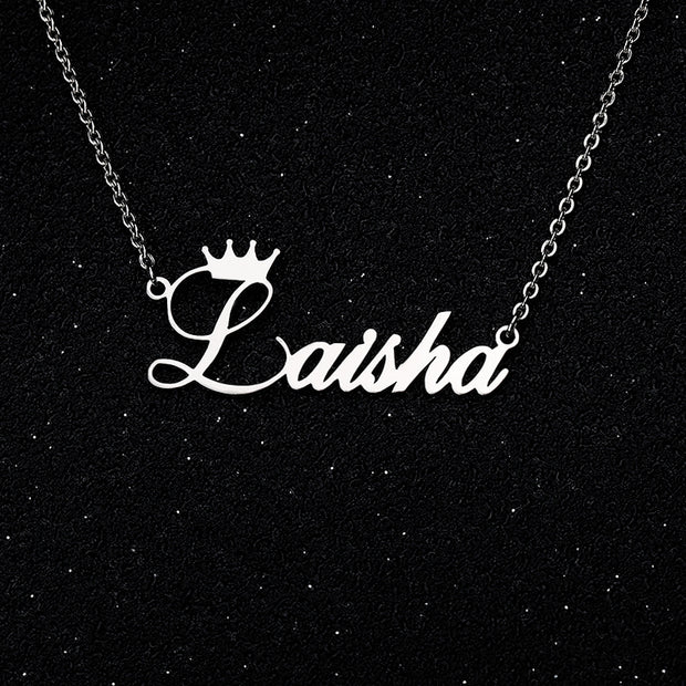 Crown Necklace ( Custom Name )