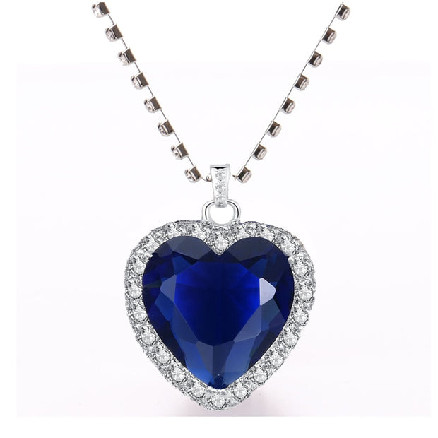 Titanic Necklace Heart of Ocean blue heart