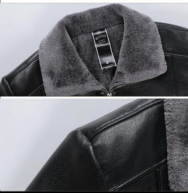 Casual Outwear Bomber Jacket Winder-breaker Motorcycle Leather Jackets fur coat