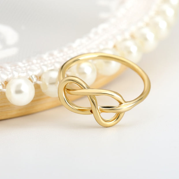 Infinity Knot Long Lasting Lover Rings Gold stainless steel