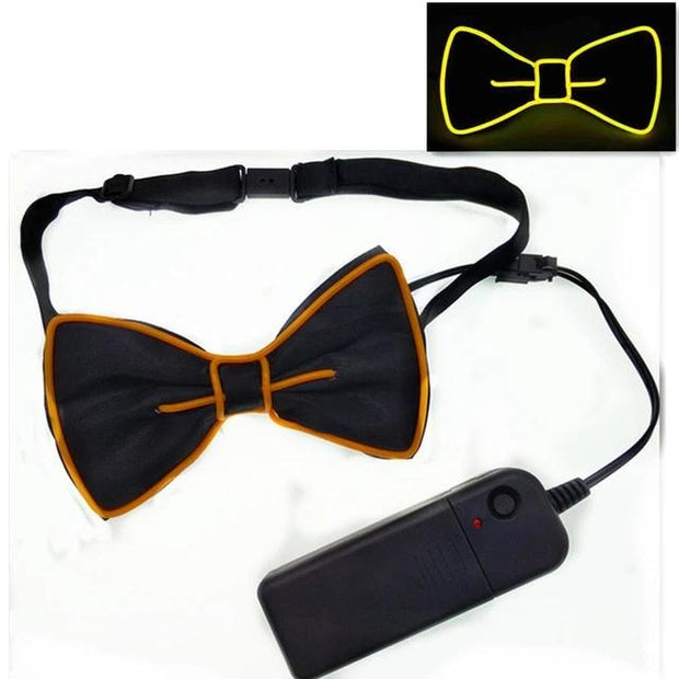 LED Wire Flashing Light Up Necktie / Bow Tie Club / Wedding / Dance Party / Christmas / New Year