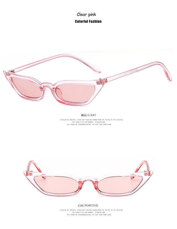 New Women Cateye Vintage Red Brand Designer Retro Points Sunglasses